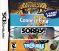 Battleship / Connect Four / Sorry! / Trouble Nintendo DS Front Cover
