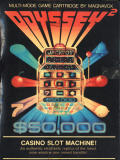 Casino Slot Machine! Odyssey 2 Front Cover