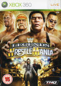 WWE Legends of WrestleMania Xbox 360 Front Cover