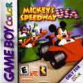 Mickey's Speedway USA Game Boy Color Front Cover