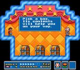 Super Mario All-Stars SNES In each world has one or more of these Toad's shop. It's free, but you can pick ONLY 1 chest!
