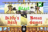 Donkey Kong Country 2: Diddy's Kong Quest Game Boy Advance Main menu