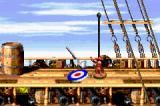 Donkey Kong Country 2: Diddy's Kong Quest Game Boy Advance Complete a level aiming in the target from a certain height makes Diddy to dance.