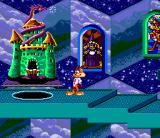 Bubsy II SNES This is a level you can access from a floor in the mansion
