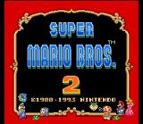 Super Mario All-Stars + Super Mario World SNES Super Mario Bros. 2 title screen.