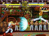 Fatal Fury Neo Geo Hanging itself in a candelabrum is a good option to avoid fireballs.
