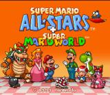 Super Mario All-Stars + Super Mario World SNES Title screen.