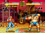 Fatal Fury Neo Geo Raiden is the adversary now: bigger size not means bigger power, OK?