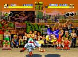 Fatal Fury Neo Geo Doing a throw when the adversary
