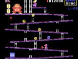 Donkey Kong TI-99/4A You can crush barrels with the hammer, but you can't climb at the same time