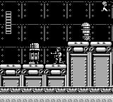 Star Wars Game Boy Now, Han is surrounded by some droids.