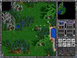 Heroes of Might and Magic II: The Succession Wars Windows Attacking the peasants is recommended for necromancers - it's easy way to gain new skeletons.