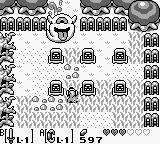 The Legend of Zelda: Link's Awakening Game Boy At the graveyard, fighting a large ghost