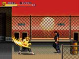 Streets of Rage 3 Genesis Axel is showing his burning fist for Shiva