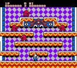 Snow Bros. Nick & Tom NES Starting out in level 1.
