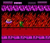 Battletoads NES Volkmire's Inferno, level 7, starts out with a nice crystalline background