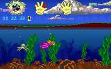Mario Teaches Typing DOS An underwater level with numbers