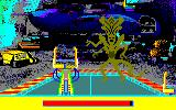 Aliens: The Computer Game Amstrad CPC Hurt the Queen with the handles of the forklift