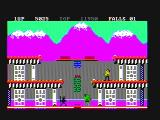 Bruce Lee PC Booter The bad guys waiting for me on the ground (CGA with composite monitor)
