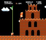 Super Mario Bros. NES Jumping over the Flagpole in 3-3. Practise makes Perfect!
