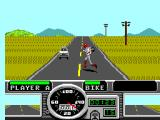 Road Rash SEGA Master System Running to get your bike