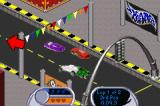 Hot Wheels: Velocity X Game Boy Advance Meanwhile, some cars are disputing a position during a curve...