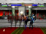 Mortal Kombat Trilogy PlayStation Just as Ermac, Johnny Cage uses his single hit move Red Shadow Kick to hit Classic Sub-Zero.