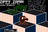 Zippy Zombi Apple II Title screen