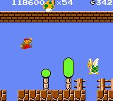 Super Mario Bros. Deluxe Game Boy Color Chasing down a 1up mushroom.
