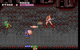 Golden Axe DOS Between the stages you take a break to restore your health (EGA).