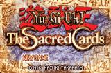 Yu-Gi-Oh! The Sacred Cards Game Boy Advance Title screen / Main menu.