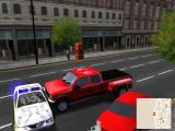 Midtown Madness 2 Windows Replay: smashing a cop car.