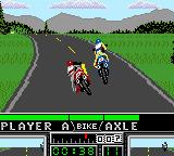 Road Rash Game Gear Racing the Sierra Nevada track.