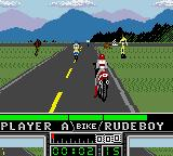 Road Rash Game Gear Starting grid at Pacific Coast.