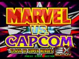 Marvel vs. Capcom: Clash of Super Heroes PlayStation Title screen (Japanese version).