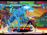 Marvel vs. Capcom: Clash of Super Heroes PlayStation Venom uses his swimming-style move Venom Fang on time to stop Gambit's Trick Card move.