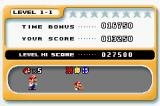 Mario vs. Donkey Kong Game Boy Advance The end of level scores