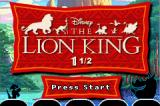 Disney's The Lion King 1 ½ Game Boy Advance Title Screen