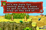 Disney's The Lion King 1 ½ Game Boy Advance Timon is off on sentry duty