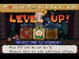 Paper Mario Nintendo 64 After receiving 100 Star Points, you can level up