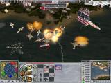 Empire Earth II Windows A bad guy sneaks up and attempts to attack MY factories. I gave them a very special view of the bottom of the water with few losses of my own.