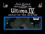 Ultima IV: Quest of the Avatar DOS Title Screen (CGA with composite monitor)