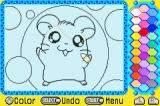 Hamtaro: Rainbow Rescue Game Boy Advance Playing with a color-mat.