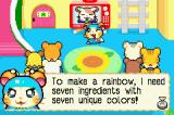 Hamtaro Rainbow Rescue Game Boy Advance The Ham-Hams decides to help Prince Bo.  Prince Bo explains he will need 7 ingredients with 7 unique colors to fix his umbrella and they all set off to find items that bear one of the 7 unique colors.