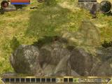 Titan Quest Windows Beautiful transparency effects take place when your character is behind objects such as trees or mountains.