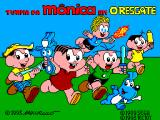 Turma da Mônica em: O Resgate SEGA Master System Title screen showing all the gang.