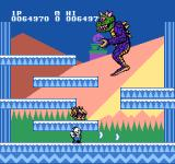 Snow Bros. Nick & Tom NES Jumping up and down and firing enemies