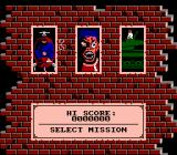 The Punisher NES Mission Select