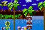 Sonic the Hedgehog Game Boy Advance Depending on how high you jump at the end of a level, you can discover secret bonus points