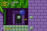 Sonic the Hedgehog Game Boy Advance Break through these marble blocks with a spin jump!